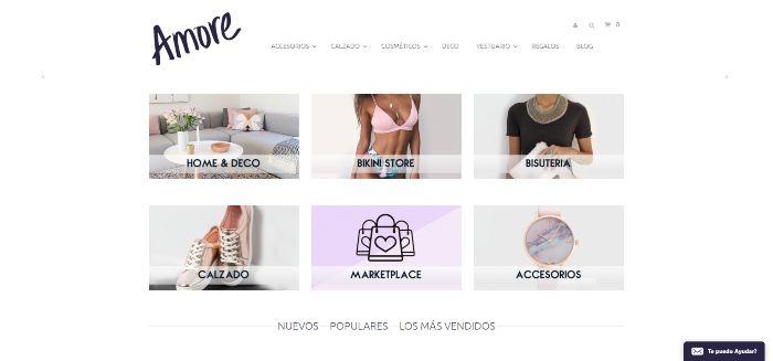 tiendas online de ropa femenina o mujeres amore
