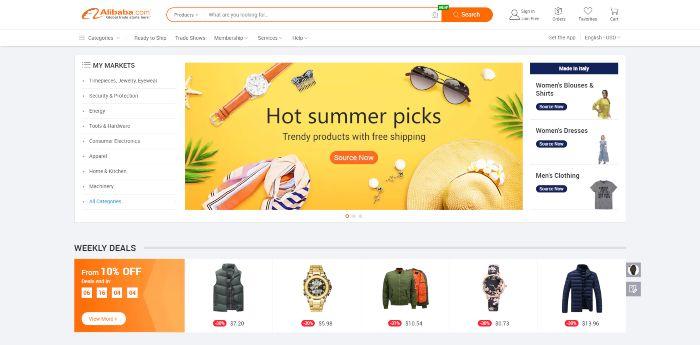 alibaba para comprar productos chinos por mayor